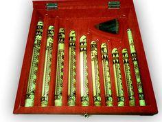 Traditional Minangkabau bamboo flute set #bamboo #Minangkabau #flute #traditional