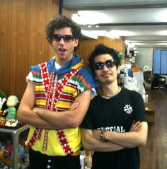 Mika and a devil robot guy 2010 in Tokyo