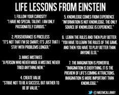Take these life lessons from Albert Einstein in mind. Quotable Quotes, Wisdom Quotes, Quotes To Live By, Motivational Quotes, Inspirational Quotes, Albert Einstein Quotes, Albert Einstein Religion, E Mc2, Good Advice