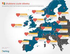Infografika: Ulubione czułe słówka - Sprawdziliśmy, które czułe określenia są najczęściej używane przez Europejczyków