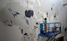 Jane Kim's Bird Mural - The artist Jane Kim recently completed a 70-by-40-foot work depicting all 243 - The New York Times