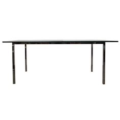 1970s Glass and Chrome Dining Table in Style of Milo Baughman | 1stdibs.com