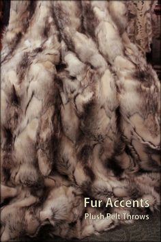Luxurious Black and Gray Rabbit Faux Fur by BedspreadsAndThrows, $98.95 (Ben would love)