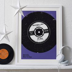 personalised number one vinyl print by betsy benn | notonthehighstreet.com Anniversary