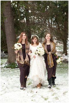 Rustic Vintage Winter Wedding Inspiration