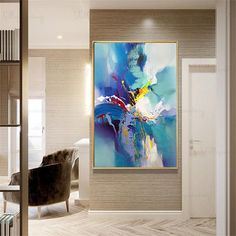 Abstract painting wall art pictures for living room wall decor original blue acrylic canvas painting thick texture home hallway decoration Acrylic Wall Art, Abstract Wall Art, Acrylic Canvas, Texture Art, Texture Painting, Images D'art, Oversized Wall Art, Decoration Originale, Wall Art Pictures