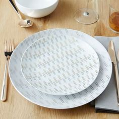 Salad Plate (small one) Palette Dinnerware Set - Ikat Gold/Silver #westelm