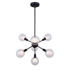 "Healey Rod Pendant   7 x 40W G9 bulbs  Size of fixture: 22 1/2"" W x 28 1/2"" - 64 1/2"" H"