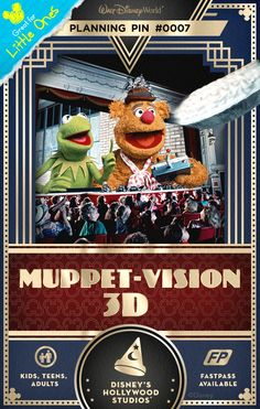 Walt Disney World Planning Pins: Experience the magic of the Muppets during a hilarious, eye-popping film and live-action extravaganza.