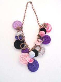 Fantasia collana Crochet in Purplemoda gioielli di sweetshtuchky