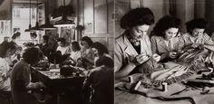 Les merveilleuses petites mains de la maison Lanvin. Photographies de Roger Schall vers 1936-1937