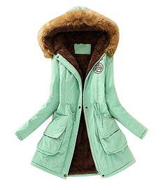d9c6947c3274 Aro Lora Women s Winter Warm Faux Fur Hooded Cotton-padded Coat Parka Long  Jacket US