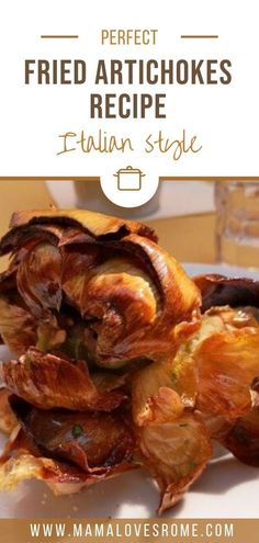 easy to make italian recipe for deep fried artichokes: step by step instruction to fry artichokes at home Vegetarian Appetizers, Appetizer Recipes, Rome Food, Artichoke Recipes, Artichokes, International Recipes, Italian Recipes, Food Inspiration, Dinner Ideas