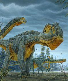 Paralititan Dinosaur Illustration