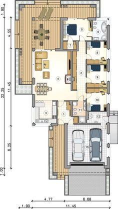 House Layout Plans, Small House Plans, House Layouts, 4 Bedroom House Plans, Architect House, Home Design Plans, Minimalist Home, Terrazzo, My Dream Home