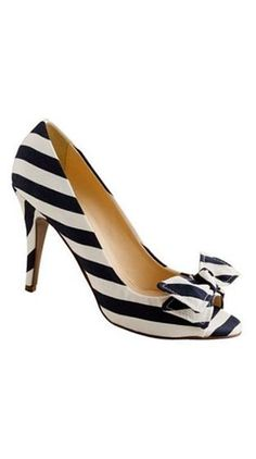 striped bow heels // j.crew