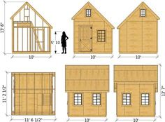 """The """"Walter"""" shed plan comes in x 146 ft² or x 200 ft² sizes. The """"Walter"""" shed plan is a x 146 ft² gable roof, wooden storage shed with a loft. If you choose the digital… Wooden Storage Sheds, Shed Storage, Firewood Shed, Firewood Storage, Clutter Solutions, Build Your Own Shed, Shed Kits, Diy Shed Plans, 10x10 Shed Plans"""