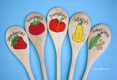 Wooden Spoon Garden Markers...could use to identify native plants to find during scavenger hunts...