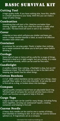 """The 10 C's of SURVIVAL -- Ten things starting with """"C"""" that every basic survival kit should have."""