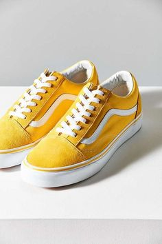 Trendy Sneakers 2018   Slide View  Vans Suede Old Skool Sneaker yellow UO d276f793c
