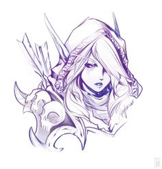 I will get this tattooed in my body... this one will be my 1st :D Lady Sylvanas/ WoW