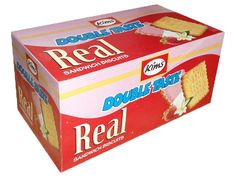"""""""Real"""" - A cream sandwich biscuit from """"KIMS"""" deliciously blending strawberry and vanilla flavors. You would love it."""