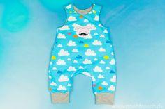 Nähfrosch Baby Strampelhose Mickey Freebook von Le-Kimi Strampler Nähen Jersey Stoff Fliegende Schweine von Cherrypicking