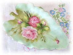 Lefton China Leaf Plate Leaf Dish Bon Bon tray by CharlotteStyle, $12.00