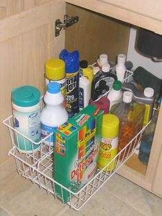 kitchen sink storage solutions return to before after page - Under Kitchen Sink Storage Ideas