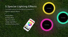 MIPOW BTL400 Creative Bluetooth LED Light Intelligent Solar Energy Garden Lamp APP Software / Light Control-24.29 Online Shopping| GearBest.com