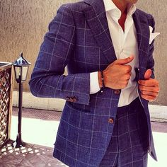 the-suit-man: Suits, mens fashion and summer style inspiration for men http://the-suit-man.tumblr.com/ Wonderful windowpane summer suit.