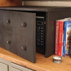I need to make a box like this to hide my microwave! I really hate how it looks sitting out in the open.