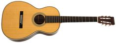 Martin 0-28VS. This is a premium guitar from the Martin Vintage Series which is based on pre-war designs and has the shape of a late 19th century parlor.