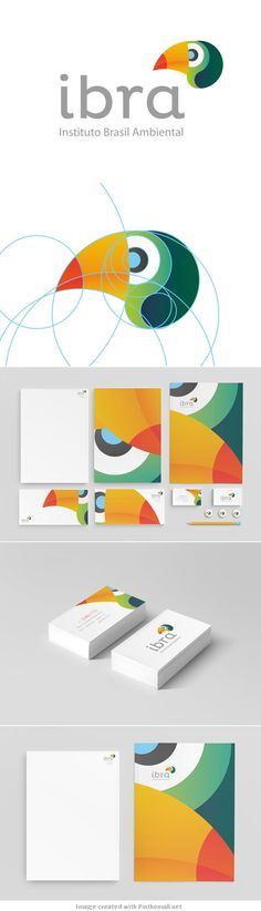 Wonderful use of geometrics and colors. Ibra Branding by Manoel Andreis Fernandes
