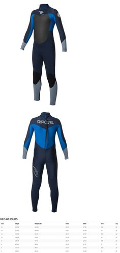 Youth 47355: Rip Curl Dawn Patrol 4 3Mm Back Zip Wetsuit - Youth - Blue - 8 -> BUY IT NOW ONLY: $129.95 on eBay!