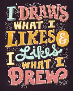 Love it! // When I'm stressed about work, I just think about this. Drawring!