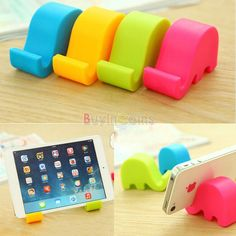 Universal Cute Elephant Cartoon Mini Cellphone Stand Holder Bracket