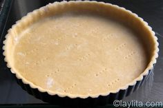 A basic and simple recipe for making homemade sweet tart dough, can be made in the food processor or by hand.