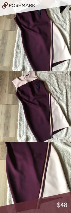 Tommy Hilfiger color block sleeveless scuba dress Love this dress 😍 from the deep aubergine color blocking to the details in the shaping. This is a fun dress, perfect for the holiday season in the thick scuba knit fabric. Tommy Hilfiger Dresses Midi