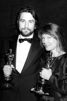 Robert De Niro, winner of Best Actor for 'Raging Bull,' and Sissy Spacek, winner of Best Actress for 'Coal Miner's Daughter' at the 53rd Annual Academy Awards, 1981.