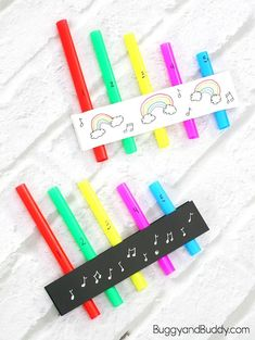 Pan flute craft and stem / science activity for kids- fun for my pre-k!
