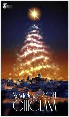 Cartel de la Navidad 2014 en Chiclana