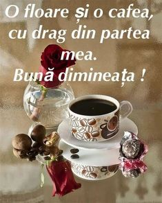 Good Morning Quotes, Coffee Break, Good Advice, Tea Cups, Tableware, Gifts, Romania, Adidas, Give Thanks