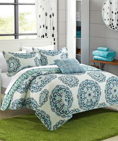 Look what I found on #zulily! Green Santiago Reversible Quilt Set #zulilyfinds