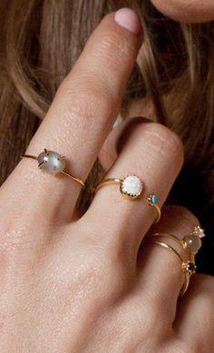 Such nice delicate rings Jewelry Rings, Jewlery, Jewelry Box, Silver Jewelry, Jewelry Accessories, Fashion Accessories, Fashion Jewelry, Jewelry Design, Jewelry Making