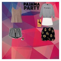 """(pjp) pajama party"" by blanca021906 ❤ liked on Polyvore featuring T By Alexander Wang, J.Crew and Ted Baker"