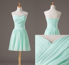 Sweetheart Neckline Chiffon Prom Dresses Short Bridesmaids Dresses Chiffon Bridesmaid Dresses. $59.00, via Etsy. - multiple colors available---I love this dress and color!