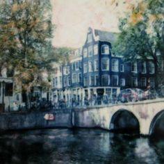 Polaroid+Photograph++Amsterdam+Canal++Signed+Fine+by+starrybluesky,+$35.00