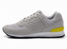 Joes New Balance MS574GY Grey Yellow Sonic Mens Shoes