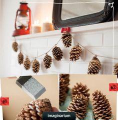 Decoração de Natal com guirlandas! #DIY #facavocemesmo #natal #decoracao